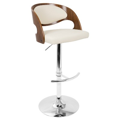 Pino Mid - Century Modern Adjustable Barstool with Swivel - Lumisource