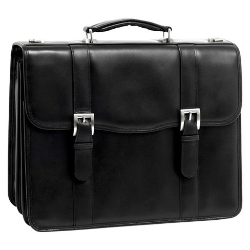 "McKlein Flournoy 15"" Leather Double Compartment Laptop Briefcase (Black) - image 1 of 3"