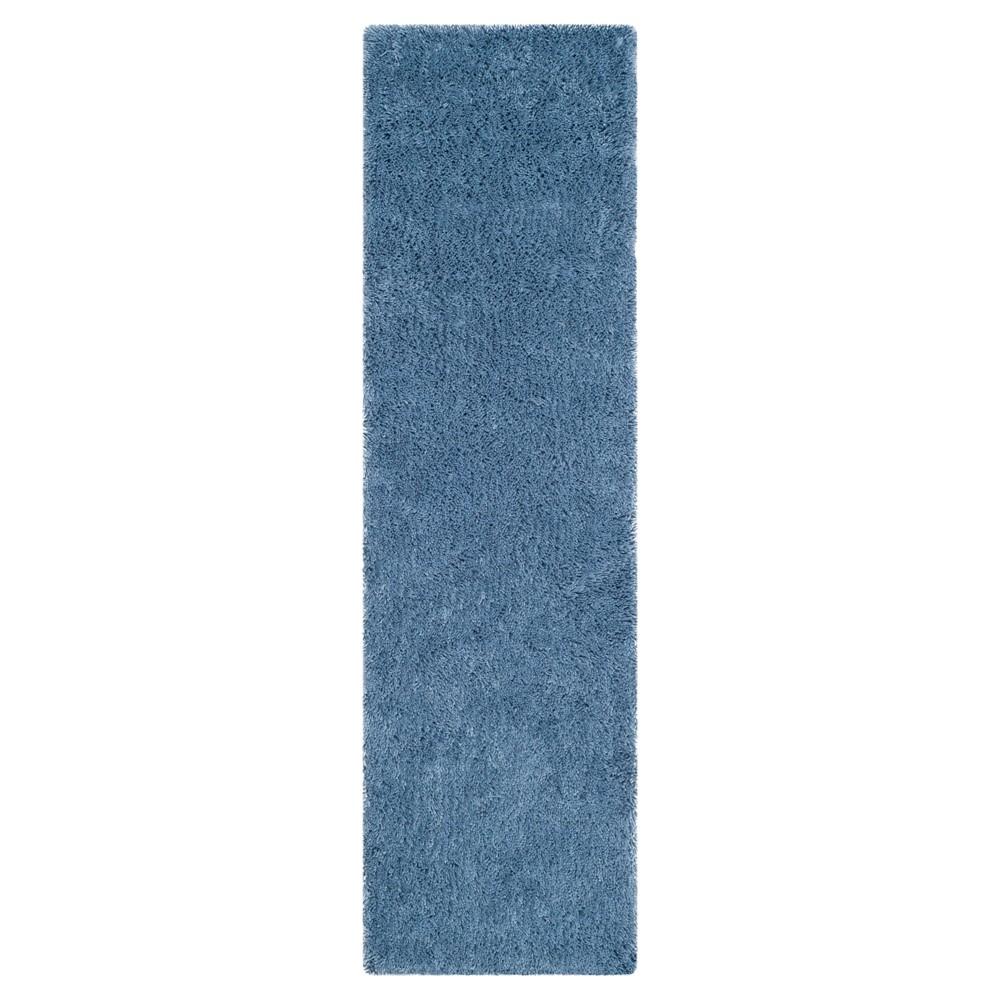 Light Blue Solid Tufted Runner - (2'3x8' Runner) - Safavieh