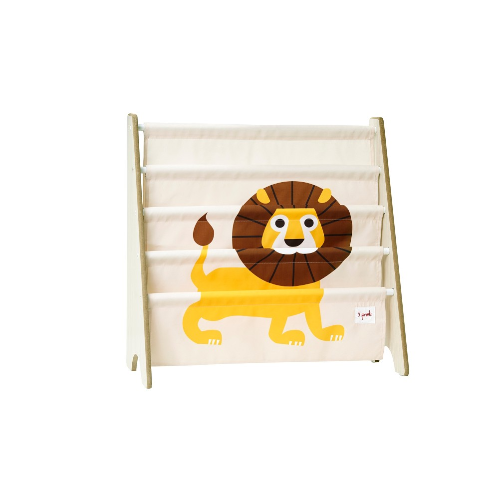 Image of 3 Sprouts Kids Bookcase Rack Lion Print