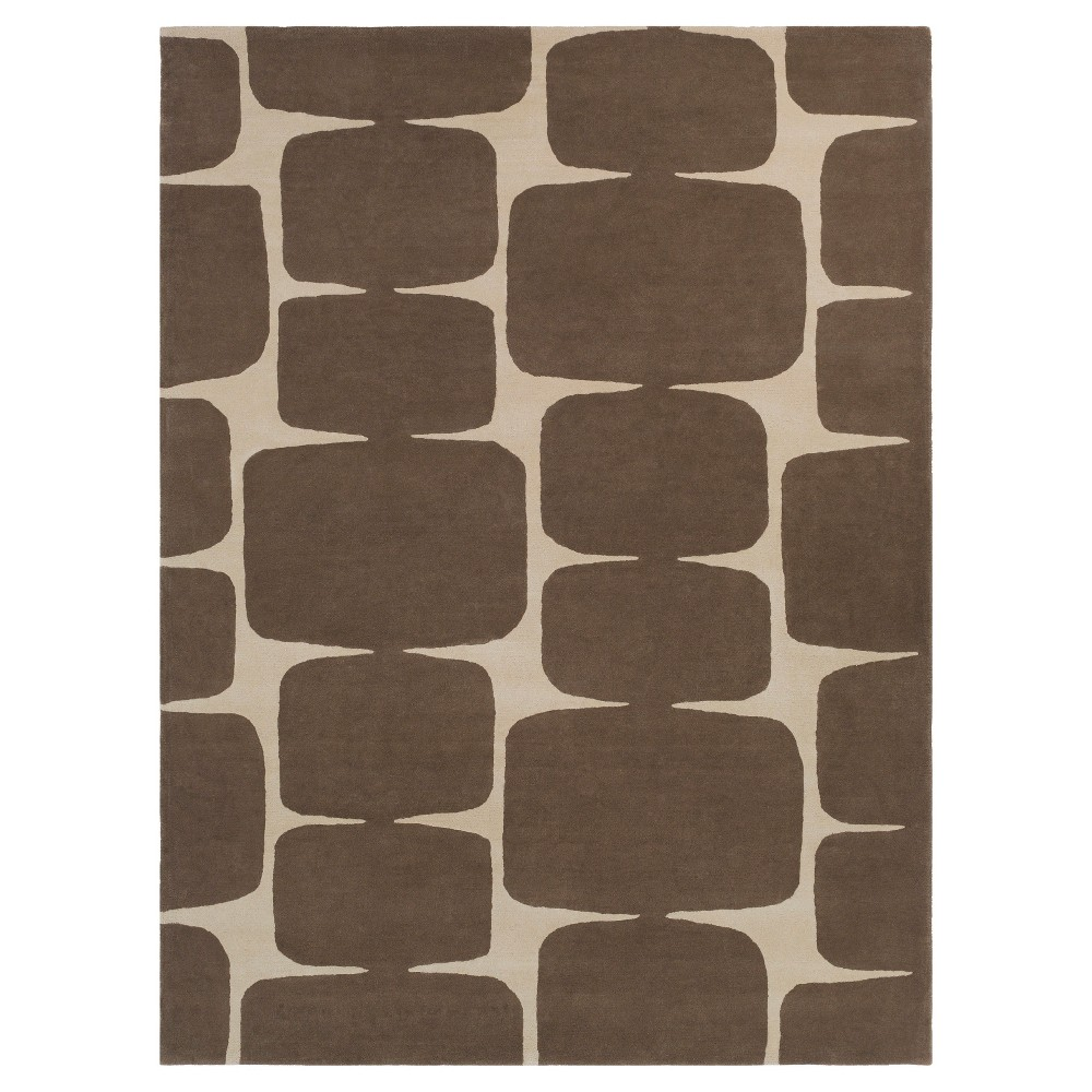 Ashbur Area Rug - Dark Brown, Khaki - (8' x 11') - Surya