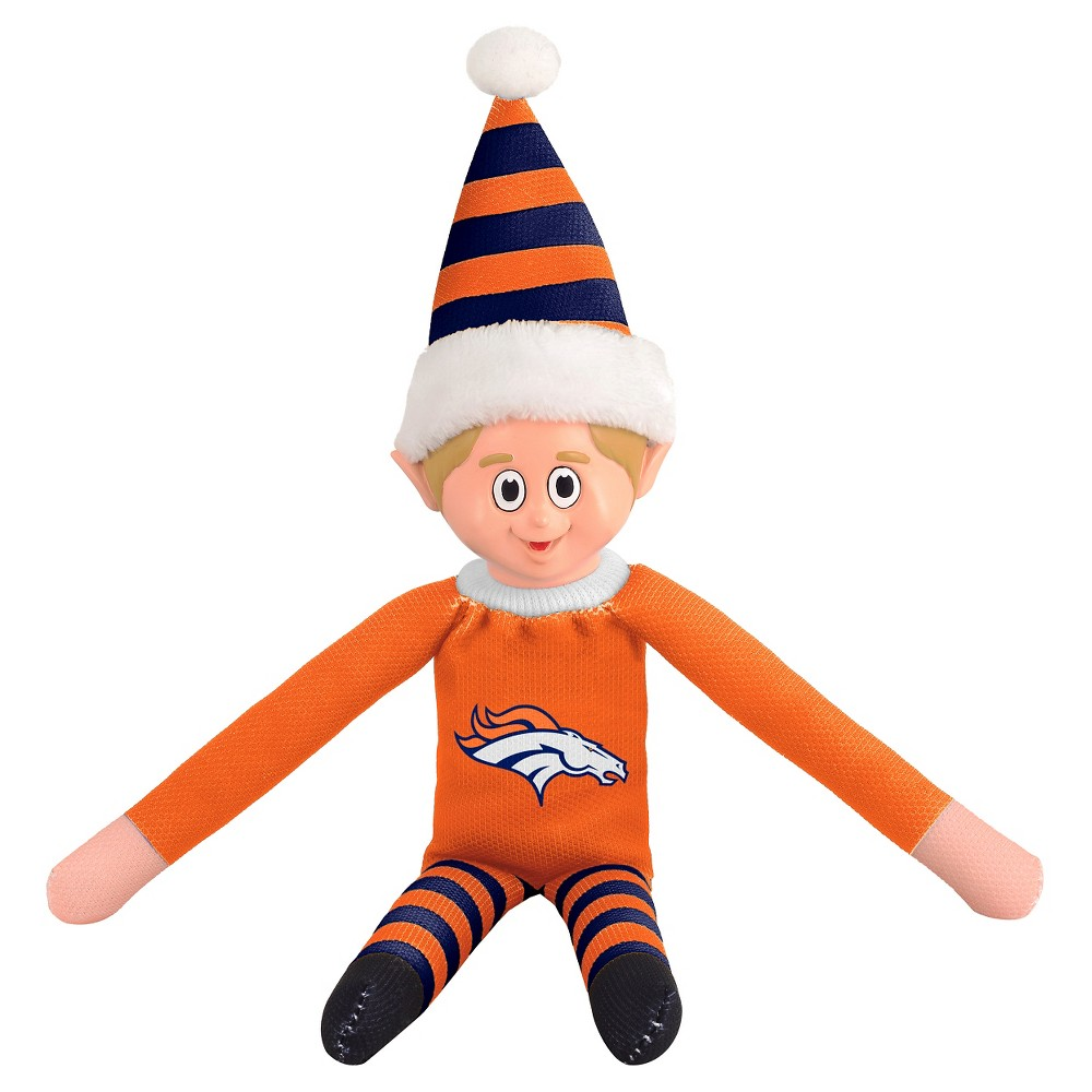 Forever Collectibles Denver Broncos Holiday Elf Forever Collectibles - NFL Team Elf, Denver Broncos - This Forever Collectibles Team Elf with provide hours of joy and holiday cheer for all. This officially licensed elf is sporting your favorite team's logo on his sweatshirt and a Santa hat for the season. Start a new tradition this year with your 2015 team elf! Age - 3 and up. Team elf is approximately 14 inches tall.
