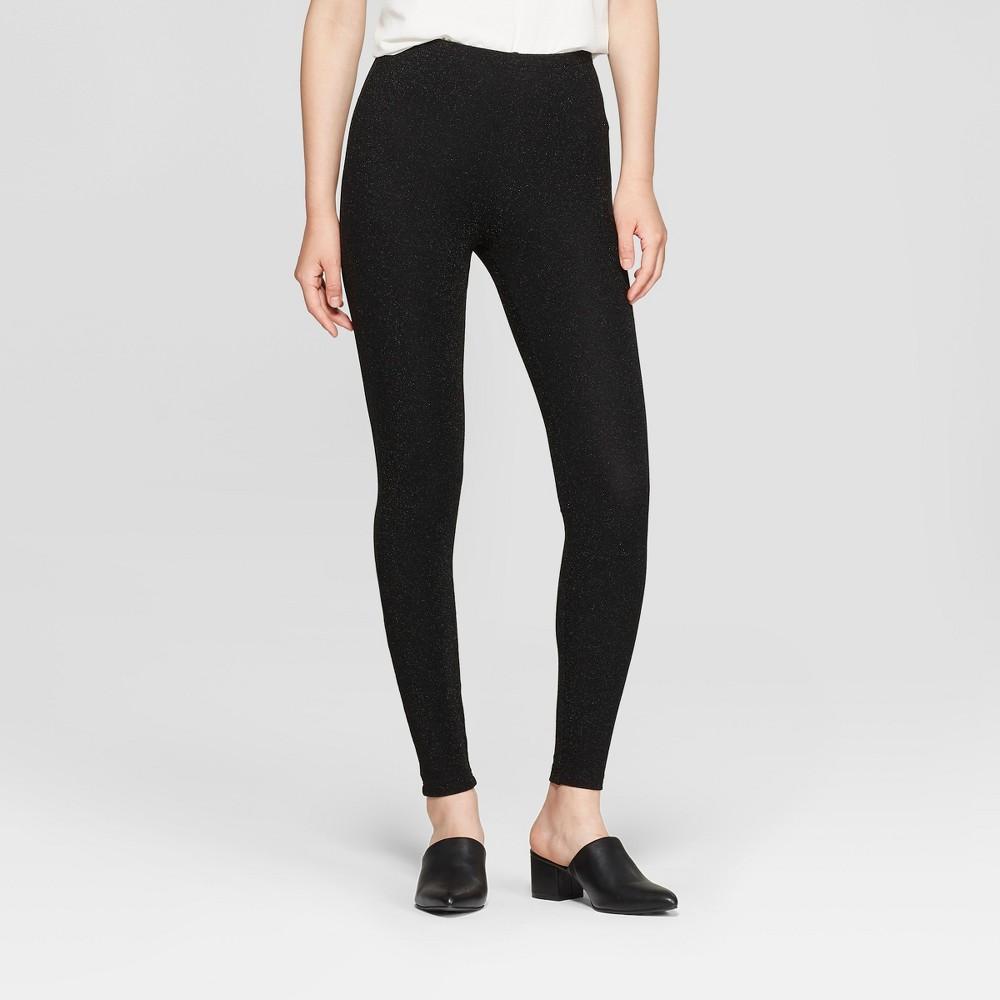 Women's Sparkle Hosiery leggings - Xhilaration Black XL