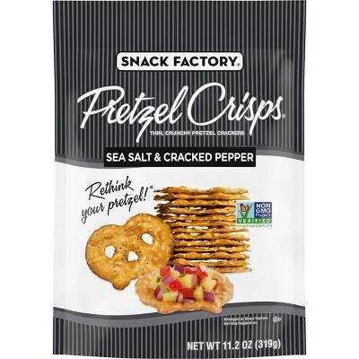 Snack Factory Pretzel Crisps Salt & Pepper - 11.25oz