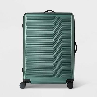"Hardside 29"" Checked Spinner Suitcase Dark Green - Open Story™"
