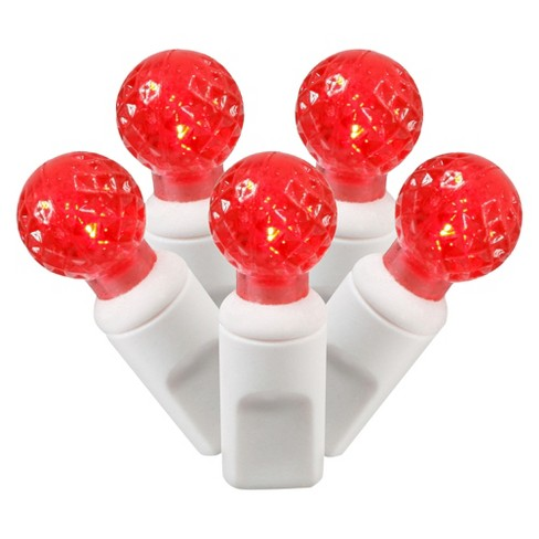 "100ct LED Faceted String Light Set - Red (4""x34'L) - image 1 of 1"
