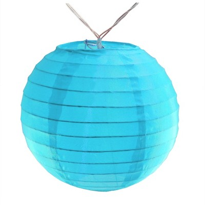 10ct Nylon LED Battery Powered String Lights Turquoise