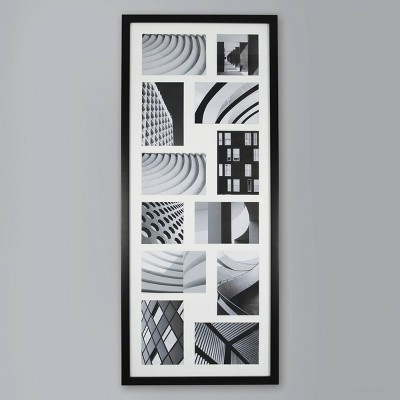 Thin Collage 12 Multi-Size Photo Frame Black - Made By Design™