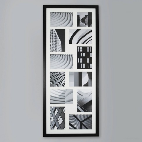 Thin Collage 12 Multi-Size Photo Frame Black - Made By Design™ - image 1 of 4