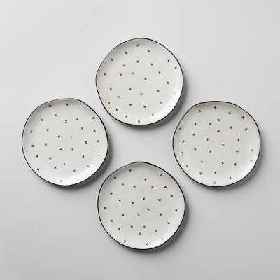 X Pattern Dessert Plate Set of 4 - Cream - Hearth & Hand™ with Magnolia