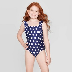 Girls' Let's Polka One Piece Swimsuit - Cat & Jack™ Navy