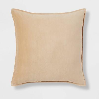 Oversized Cotton Velvet Square Pillow Yellow - Threshold™