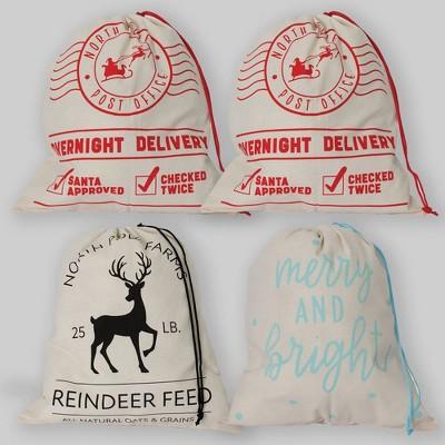 4ct Fabric Gift Bags - Bullseye's Playground™