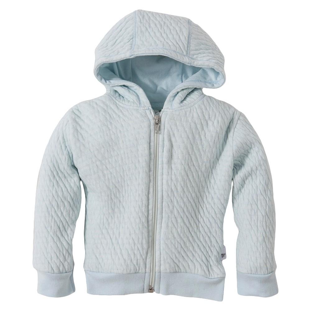 Burts Bees Baby Newborn Boys' Long Sleeve Hoodie - Sky Blue 18 M, Size: 18M, Gray Blue White