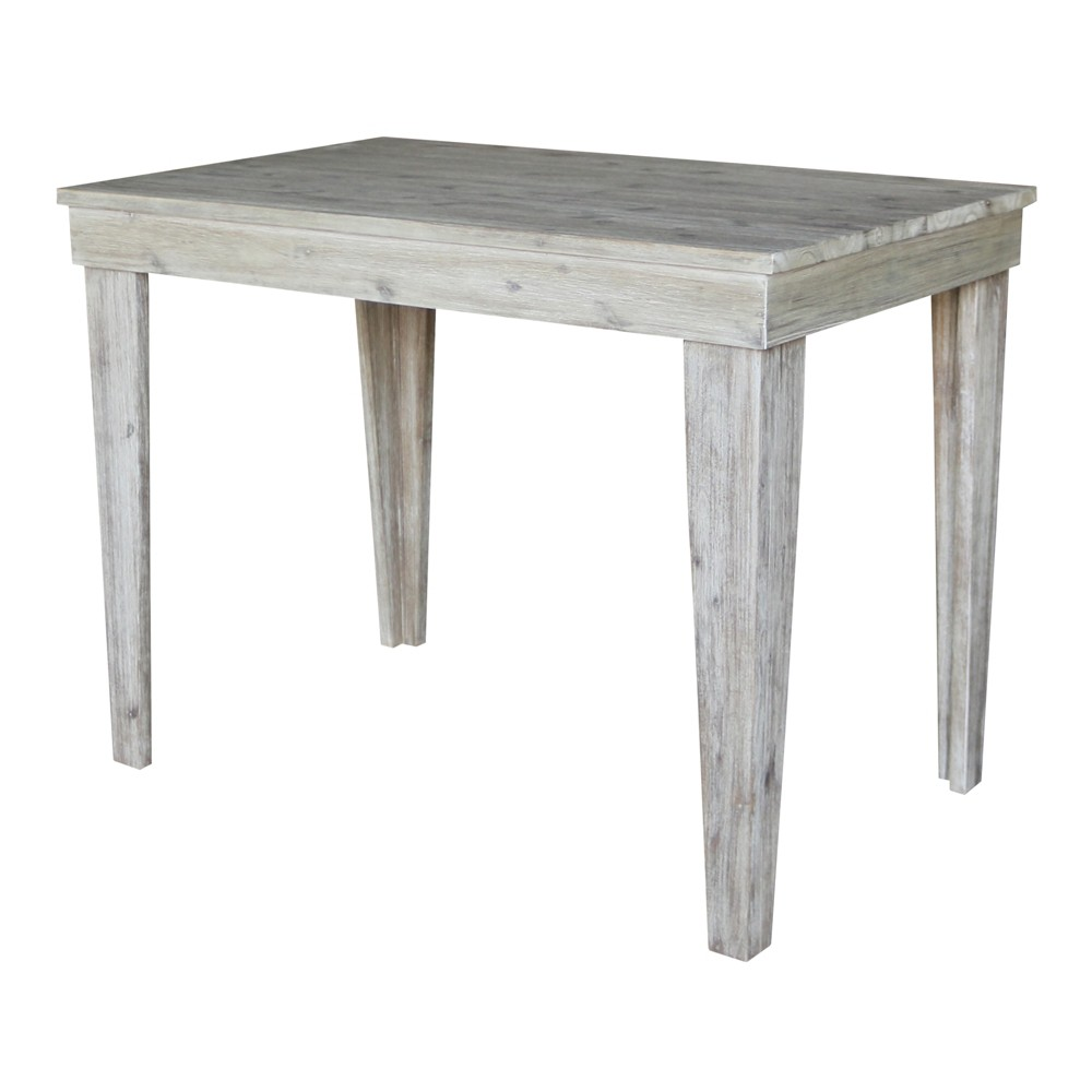 36Saylor Modern Rustic Solid Wood Table Rustic Gray Wash - International Concepts