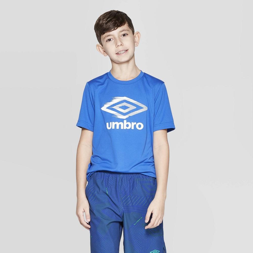 Umbro Boys' Logo Tech T-Shirt - Royal Blue S