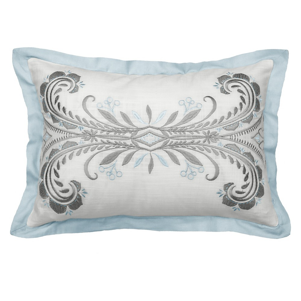 Image of Arlee Embroidered Lumbar Pillow- Beautyrest