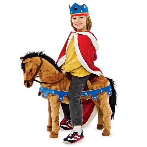 Magic Cabin - Royal Sit-on Plush Pony, Brown - image 1 of 2