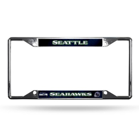 NFL Seattle Seahawks View Chrome License Plate Frame - image 1 of 3