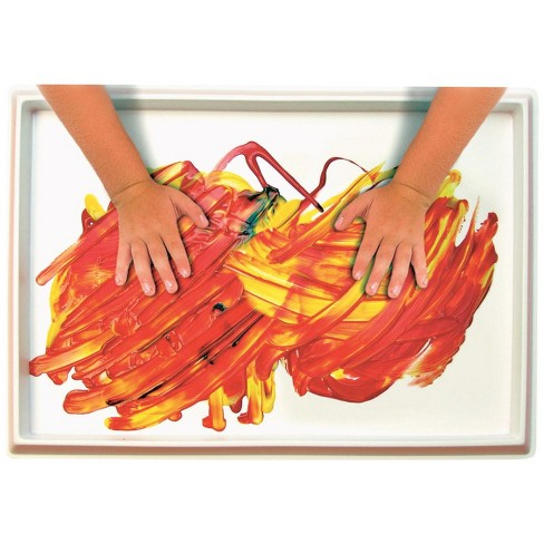 Roylco Fingerpaint No-Mess Paint and Play Tray, 12 x 18 Inches, White - image 1 of 1