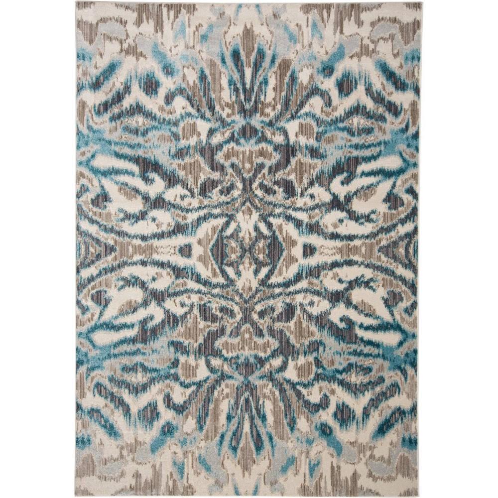 Image of 10'X14' Ikat Design Loomed Area Rugs Aqua/Haze - Weave & Wander