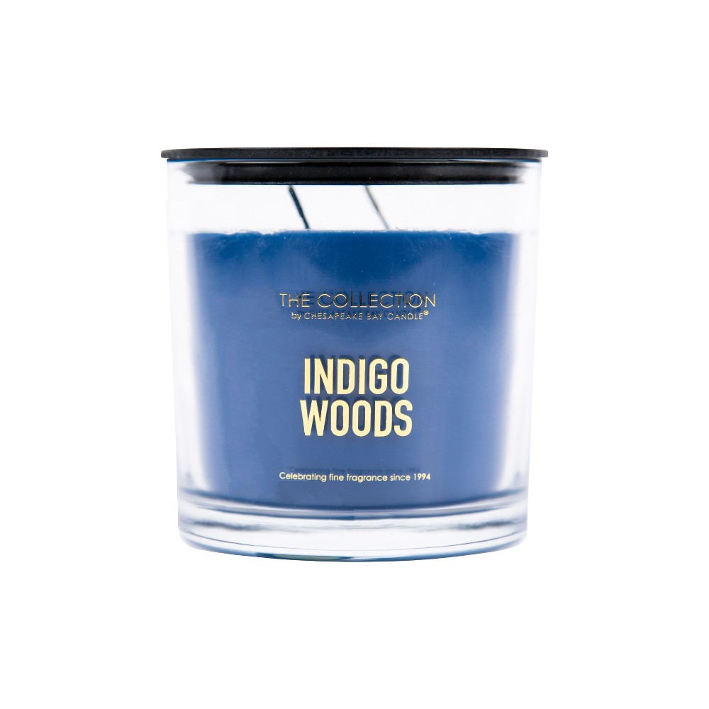 Image of 13oz Glass Jar 2-Wick Candle Indigo Woods - The Collection By Chesapeake Bay Candle