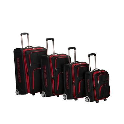 Rockland Varsity Polo Equipment 4pc Luggage Set - Black