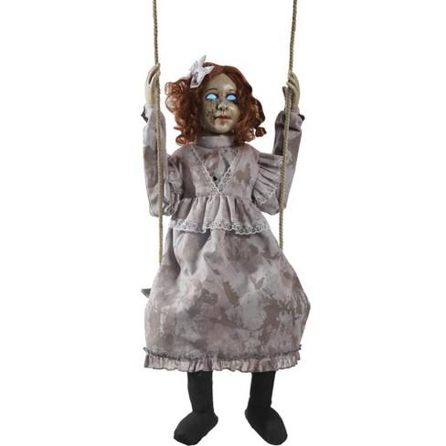 Swinging Decrepit Doll Animate Halloween Decorative Holiday Scene Prop - image 1 of 1