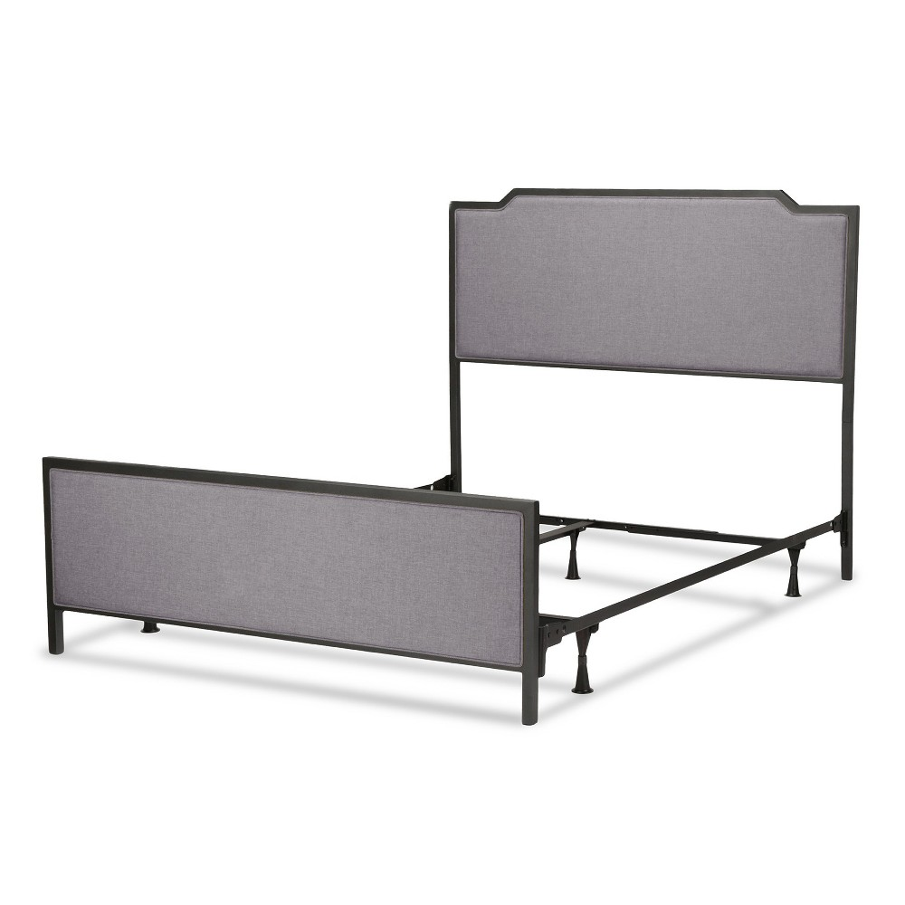 Bayview Metal and Upholstered Bed - Black Pearl - Full - Fashion Bed Group