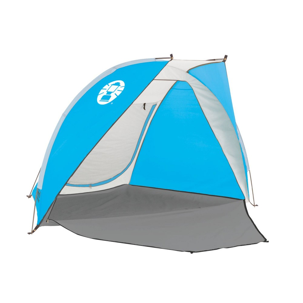 Image of Coleman Beach Shade with 50+ SPF Sun Protection Tent - Blue