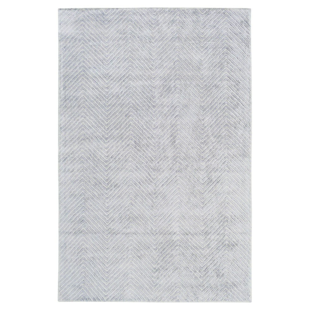 Lite Blue Solid Woven Accent Rug - (2'X3') - Surya, Pale Blue