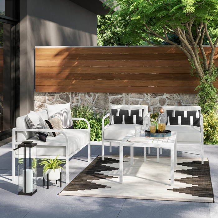 Beacon Hill 4pc Patio Conversation Set - Gray - Project 62™ - image 1 of 10