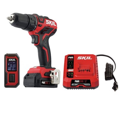 Skil CB737501 12V PWRCore 12 Lithium-Ion Brushless 1/2 in. Cordless Drill Driver / Laser Measurer Kit (2 Ah)