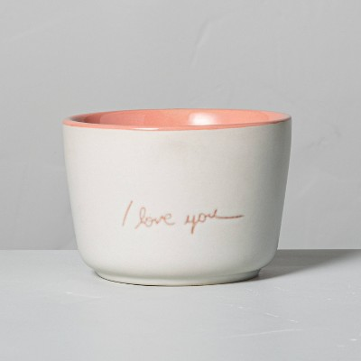 6.77oz Rattan 'I Love You' Ceramic Candle - Hearth & Hand™ with Magnolia