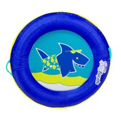 SwimWays Springfloat Kids Boat Round Fabric Covered Swimming Pool Float, Blue