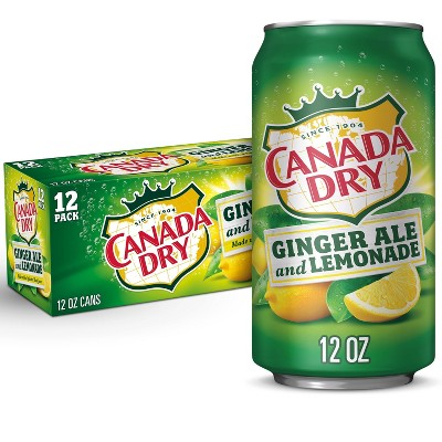 Canada Dry Ginger Ale Soda and Lemonade - 12pk / 12 fl oz Cans