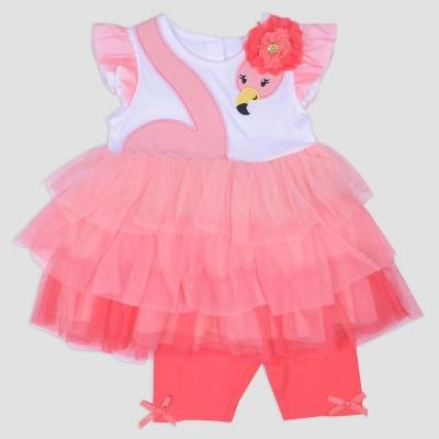 Baby Girls' Jersey Top and Bike Shorts Set Nate & Annee™ Dark Peach 3-6M