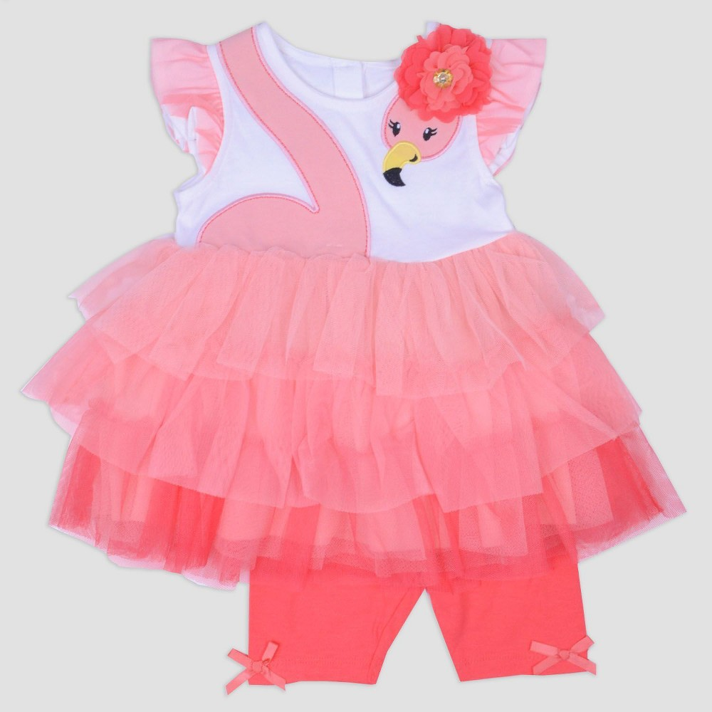 Baby Girls' Jersey Top and Bike Shorts Set Nate & Annee Dark Peach 18M, Orange