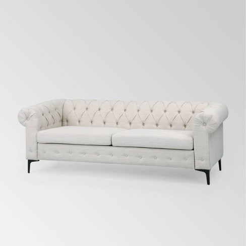 Bannock Contemporary Tufted Sofa Beige - Christopher Knight Home : Target