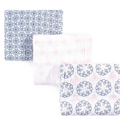 Yoga Sprout Baby Girl Cotton Muslin Swaddle Blankets, Whimsical, One Size