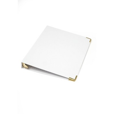 Russell+Hazel Mini 3 Ring Binder White