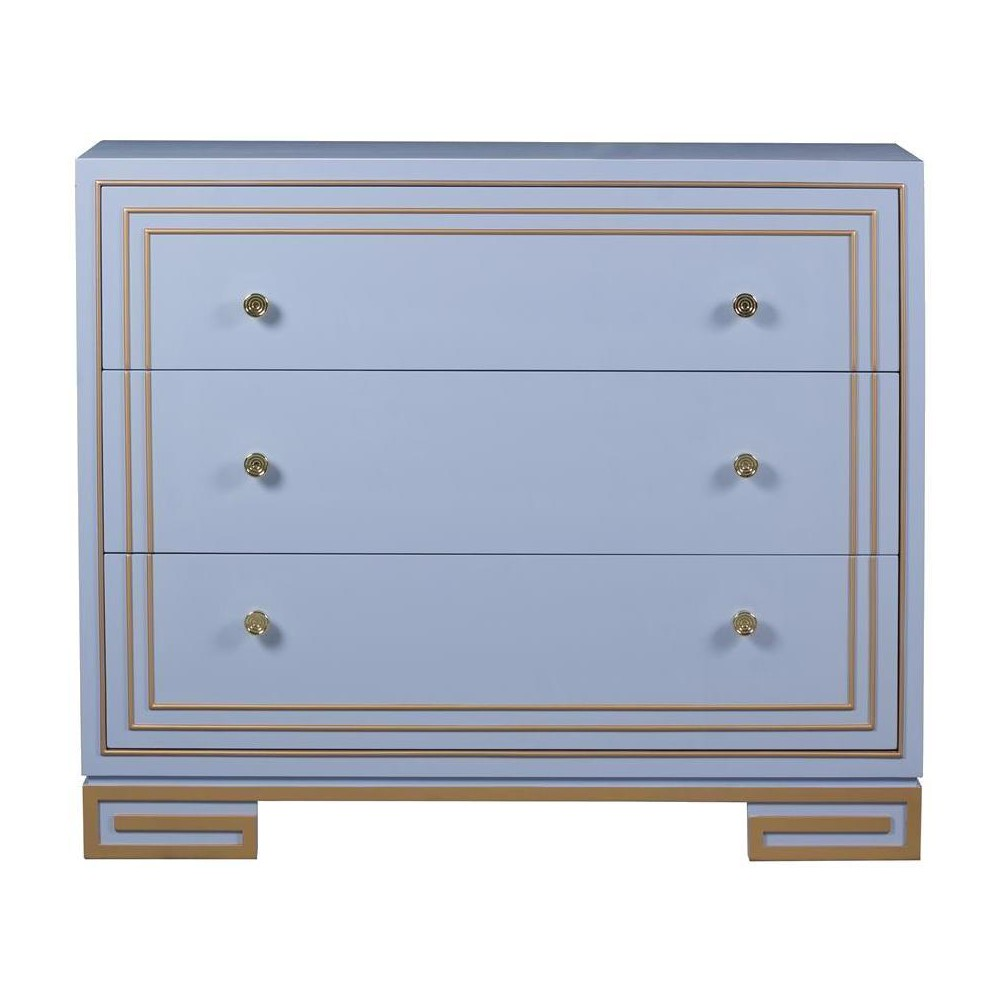 Aria Deco Drawer Chest - Blue - Pulaski, Blue Sky