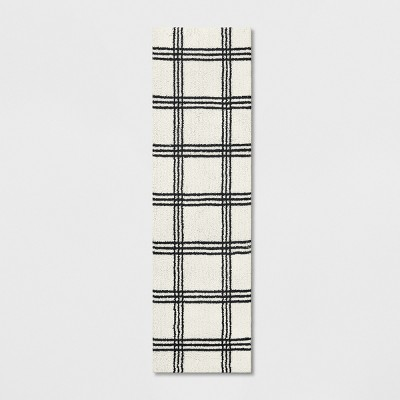 2'X7' Plaid Tufted Accent Rugs Ivory - Threshold™