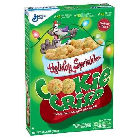 Cookie Crisp Holiday Sprinkles Breakfast Cereal 11 25oz General Mills