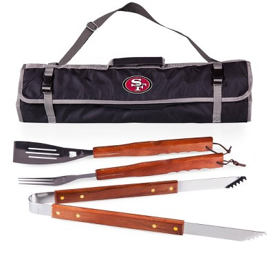 NFL San Francisco 49ers 3-Piece BBQ Tote and Tools Set by Picnic Time