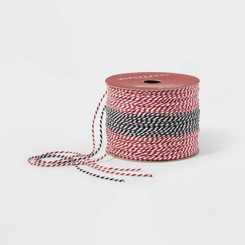 Ribbon 3 End Red/Black Baker's Twine - Wondershop™ - image 1 of 1