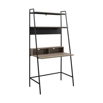 "36"" Sophia Open Concept Bookshelf Workstation - Saracina Home"
