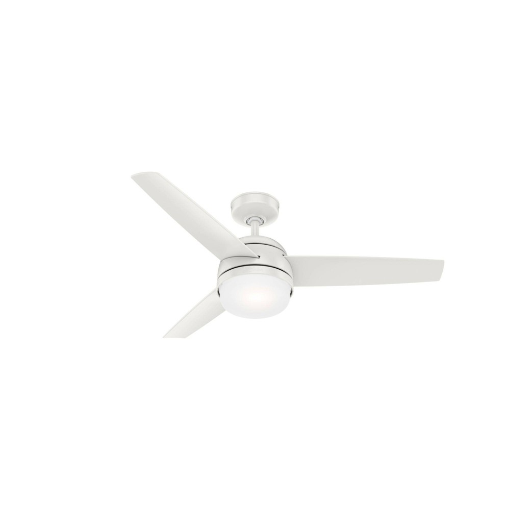48 34 Midtown Ceiling Fan With Remote White Includes Led Light Bulb Hunter Fan