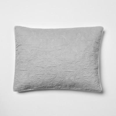 Gray Garment Washed Medallion Stitched Sham (Standard)- Opalhouse™