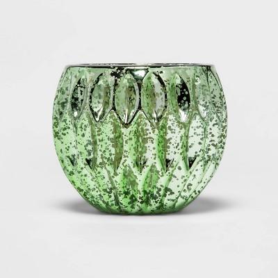8oz Glass Mercury Round Candle Green - Threshold™